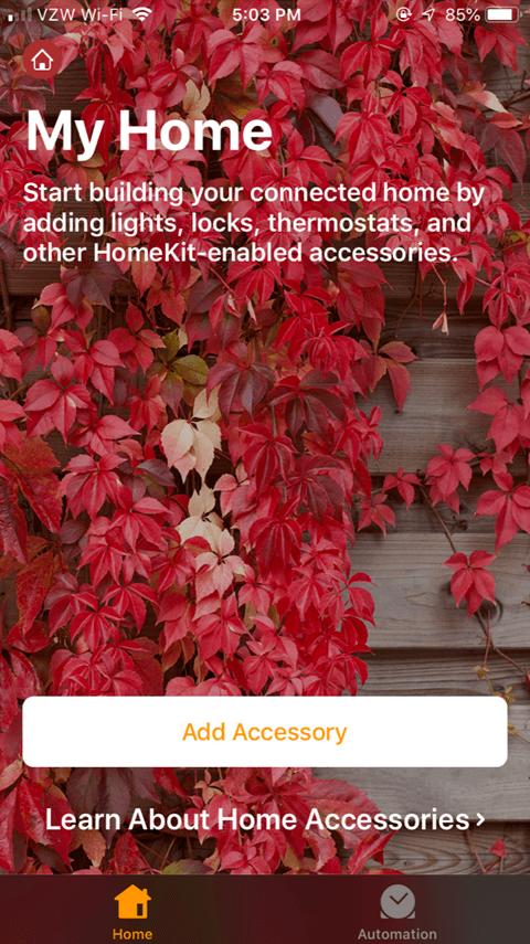 Sharing the Lutron Caseta App - Add Accessory
