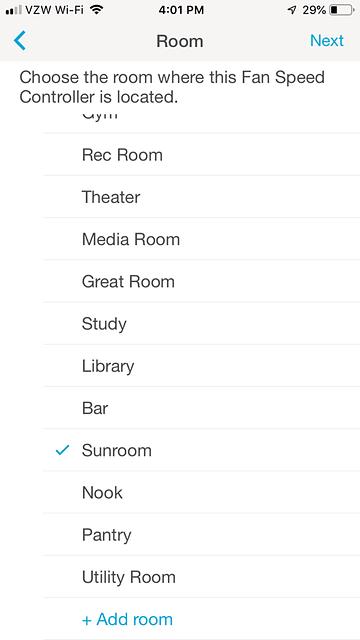 Sunroom Ceiling Fan Room Screen - 2