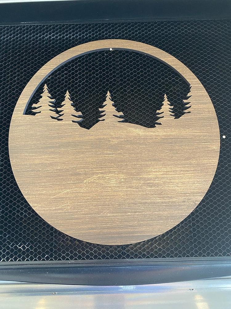 Layer three of the custom door sign
