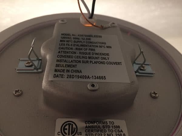Kichler Lighting 43870WHLED30 LED Downlight Back Side