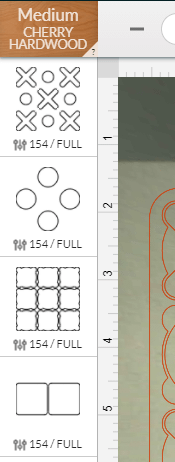 Correctly Ordering the Laser Cutting Steps of the Tic Tac Toe Board in the Glowforge App