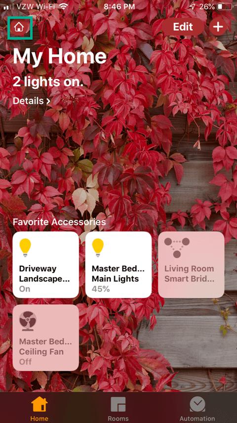 Sharing the Lutron Caseta App - Home Setup Icon
