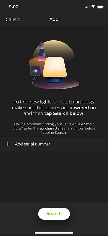 Hue Smartphone App Search for GELOPTO controller
