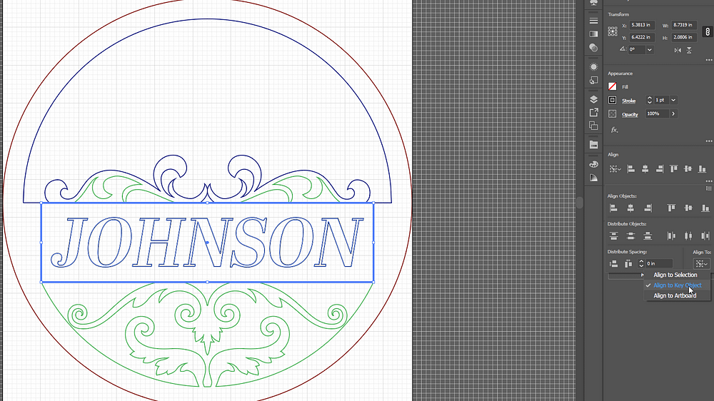 Adobe Illustrator with Layer 4 of the Custom Door Sign Design
