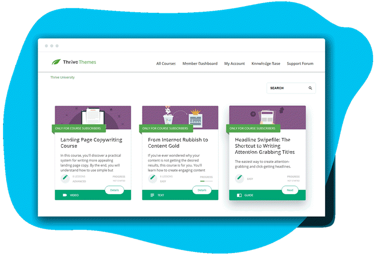 Thrive Themes Review: Thrive Apprentice Course Landing Page
