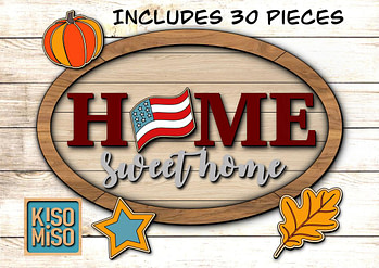 Home sweet home SVG laser cut files for Glowforge