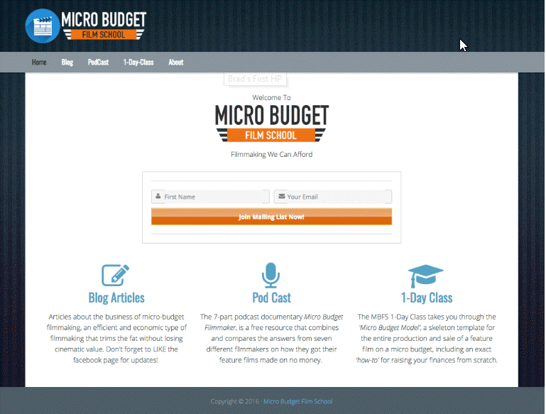 Micro Budget Film School