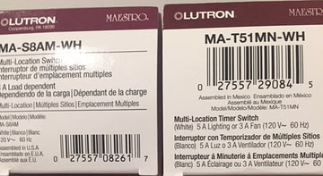 Lutron Timer Switch Part Numbers