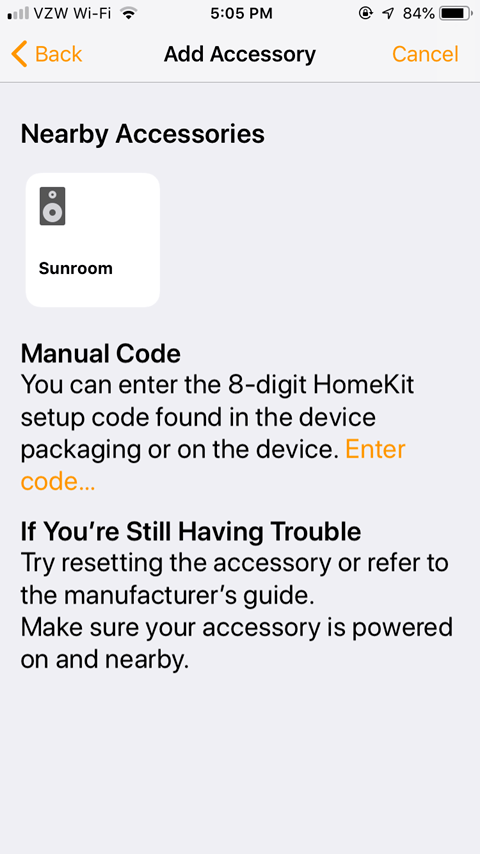 Sharing the Lutron Caseta App - Manual Code
