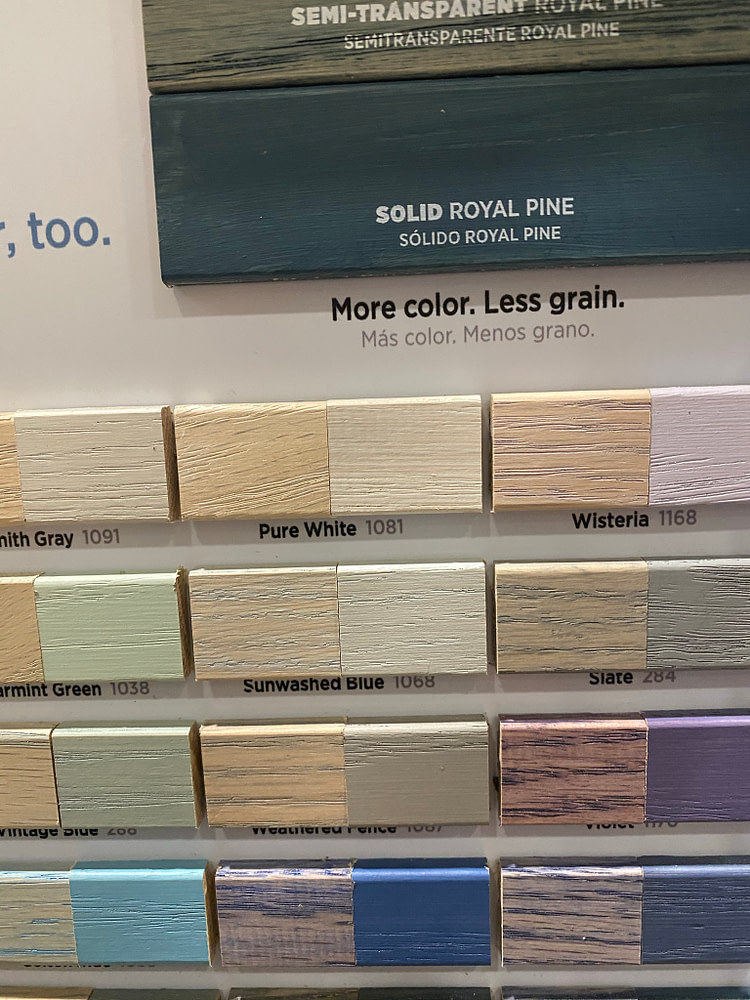 Minwax Statin wide range of color options