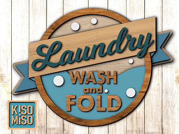 Laundry room sign SVG laser cut files for Glowforge. Layered file. Digital Download