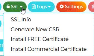 WPX Hosting Management SSL Settings