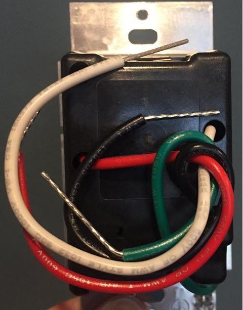 Lutron Caseta Wireless Smart Lighting ELV Dimmer Switch for Electronic Low Voltage Light Bulbs, PD-5NE-WH, White - Back Side