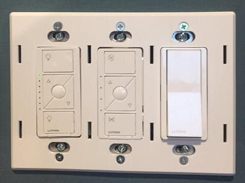 Replacing the Existing Toggle Switches - Electrical Box Claro Back Plate View