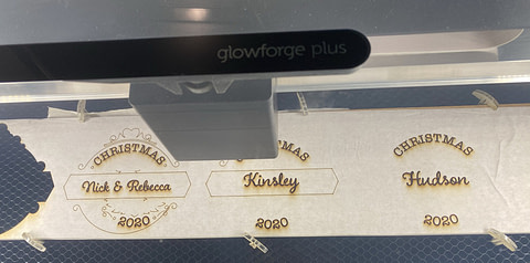 Glowforge Laser Cutting Multiple Image Designs