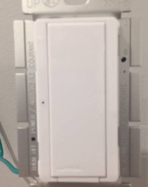 Bathroom Fan and Light Replacement Lutron MA-S8AM-WH Digital Switch