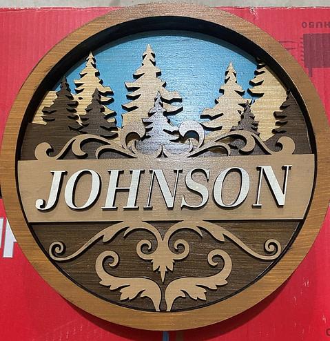 Final Version of the Laser Cut Custom Door Sign