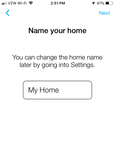 Lutron Caseta App Install on iPhone - Name Your Home