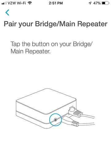 App Install on iPhone - Pair Your Bridge/Main Repeater