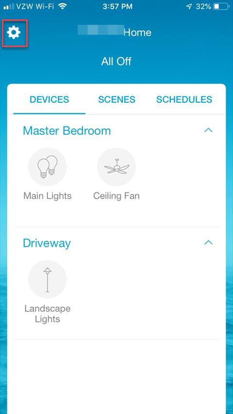 Caseta Smartphone App - Main App Screen