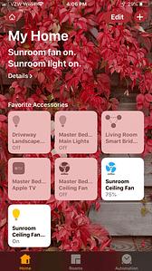 Sharing the Lutron Caseta - Sunroom