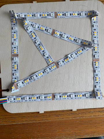 LED Strip Light Project Installation in 3D Shadow Box