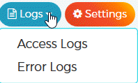 WPX Managed WordPress Hosting Management Logs
