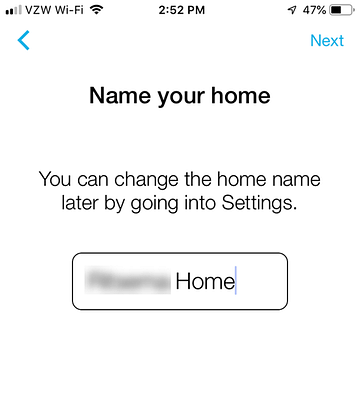 App Install on iPhone - Name Your Home