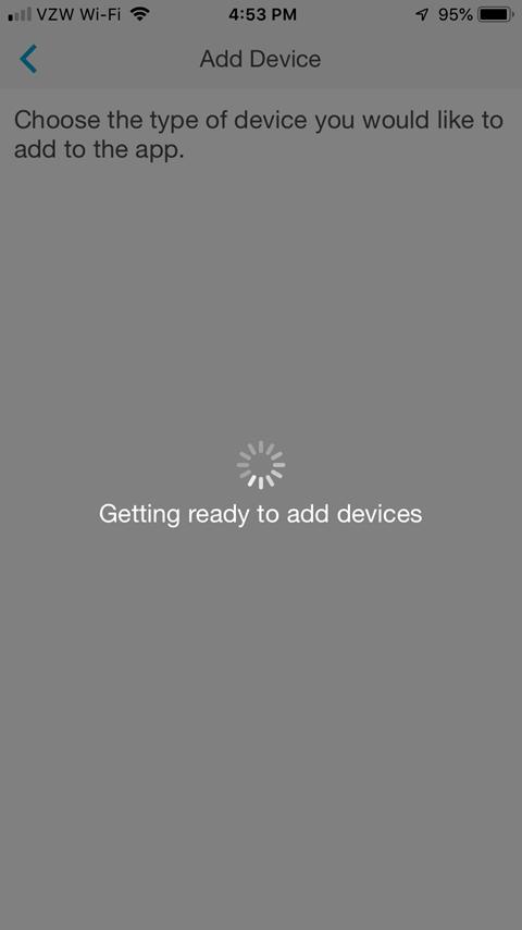 Lutron Caseta App - Getting Ready Processing Screen