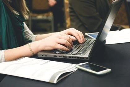 Writing At a Laptop