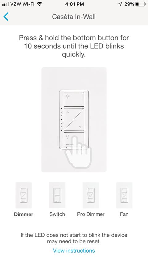 Caseta In-Wall Screen