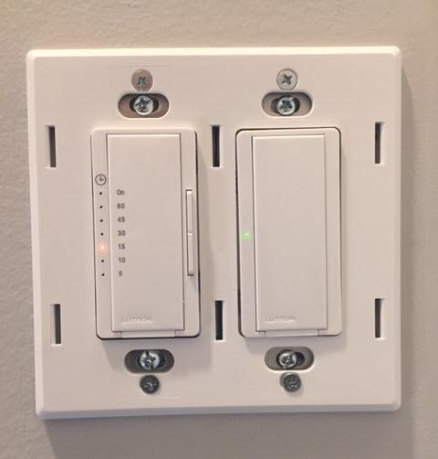 Bathroom Fan and Light Replacement Lutron Timer Switch, Installing the Claro Wallplate