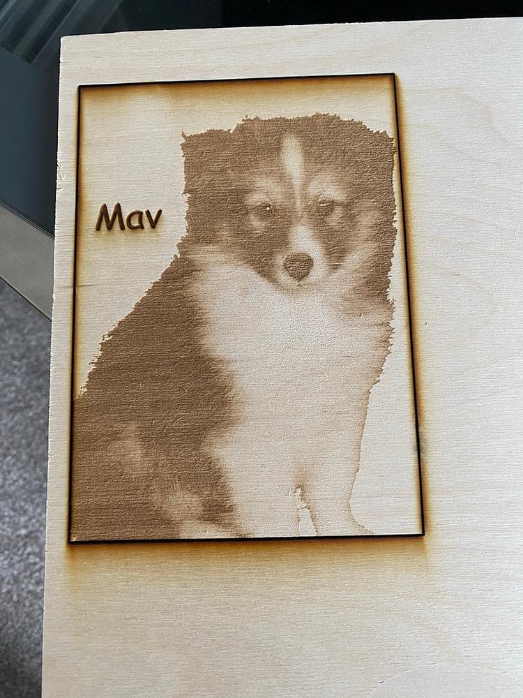 Beloved Dog Laser Engraving