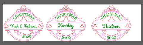 Adobe Illustrator Multiple DIY Christmas Ornaments