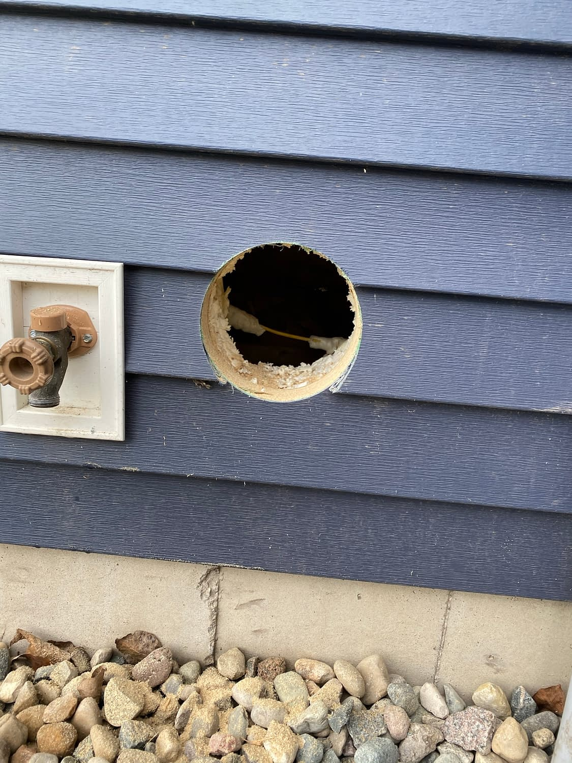 Exterior Wall Exhaust Vent 6-inch hole