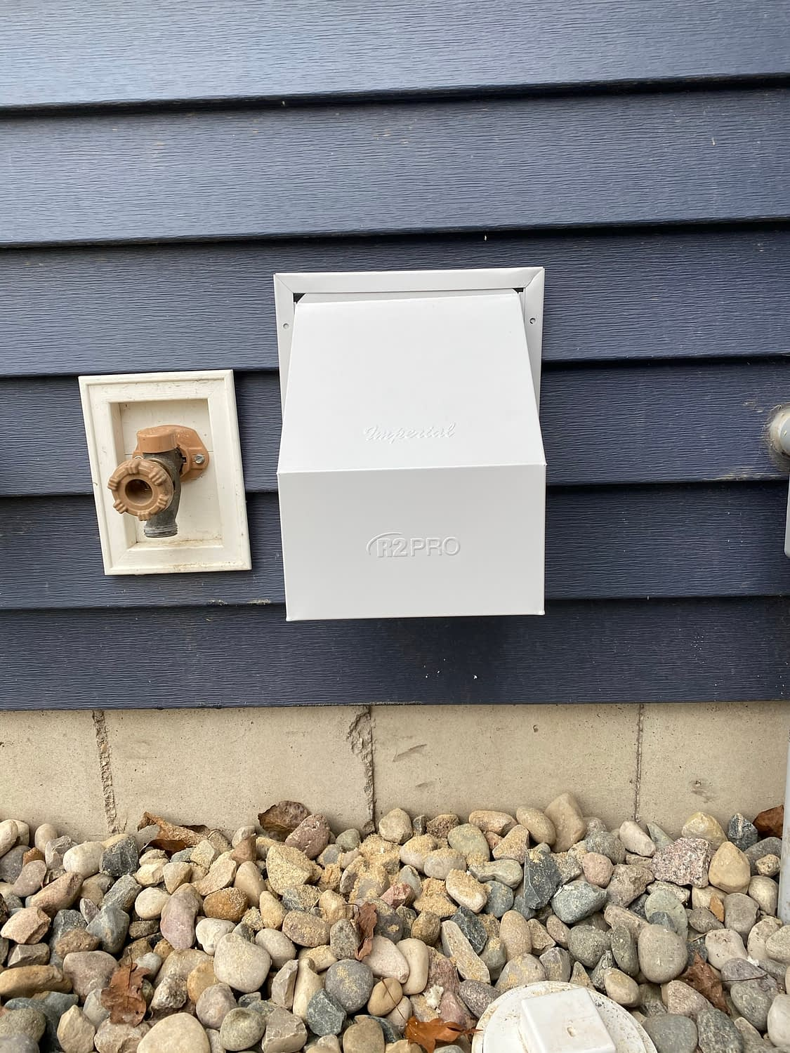 Exterior Wall Exhaust Vent Installed