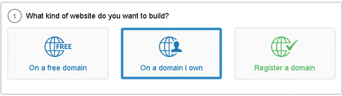 SiteManager - What kind of website do you want to build