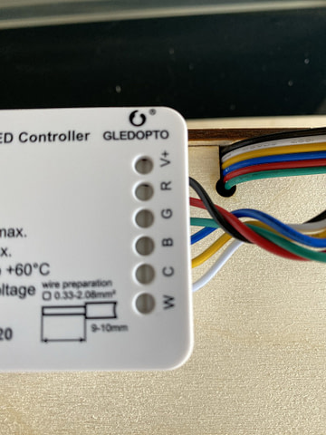 LED Strip Light Project wire up GLEDOPTO LED Controller