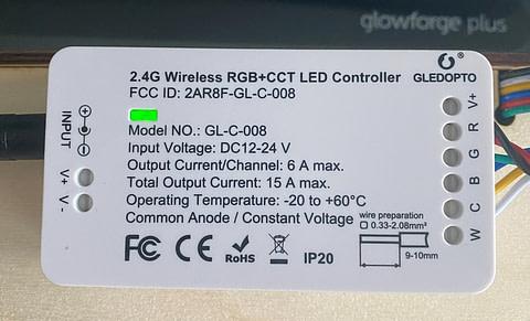GLEDOPTO Smart ZigBee LED Strip Controller RGB CCT 2ID Work as 2 Lights Dimmable
