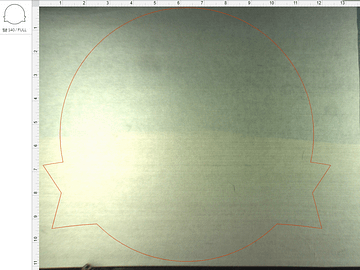 Background layer of sign in Glowforge laser software
