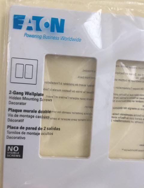 The New Switch Wall Plate - EATON PJS262W Arrow Hart