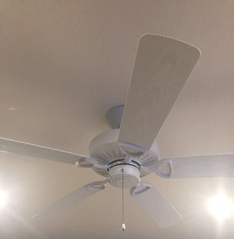 Indoor Ceiling Fan Installation with Blades