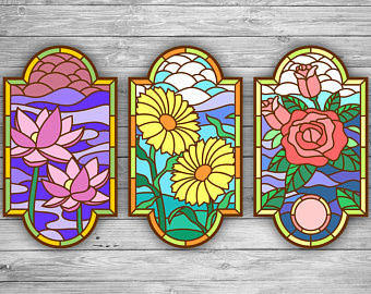 Panel flowers, Laser cut files SVG