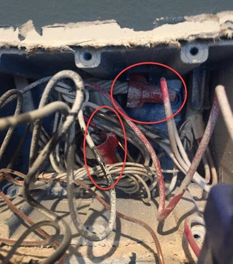 Replacing the Existing Toggle Switches - Electrical Box View