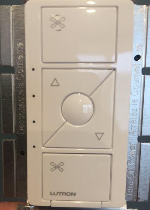 Lutron PD-FSQN-WH Caseta Wireless Smart Fan Speed Control, White - Front View