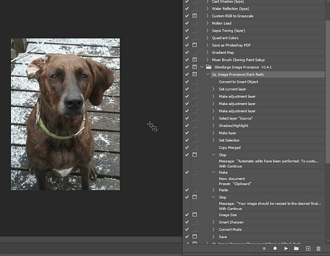 Photoshop List of Actions