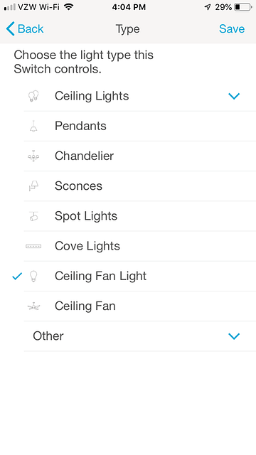 Sunroom Ceiling Fan Light Type Screen