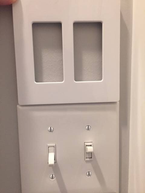 Bathroom Fan and Light Replacement Lutron Claro Two Gang Wallplate