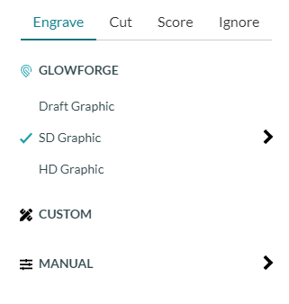Glowforge Laser Software Processing Steps