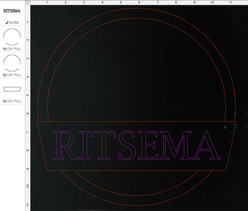 Frame layer of sign in Glowforge laser software